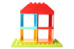 五颜六色的玩具房子 库存图片