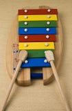 五颜六色的玩具木琴 图库摄影