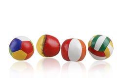 五颜六色的玩具球 免版税库存照片