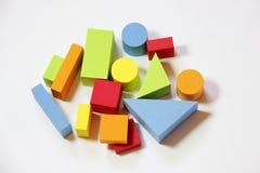 五颜六色的玩具砖 库存图片