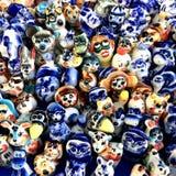 五颜六色的玩具 美好绘画的展示和五颜六色的玩具由玻璃和黏土制成 库存图片