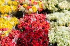 五颜六色的玫瑰花束 库存图片