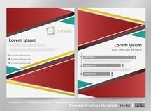 五颜六色的现代企业小册子摘要与细节vecto的 库存例证