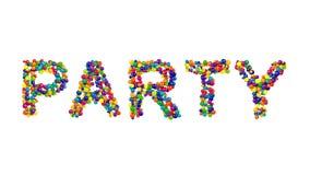 五颜六色的现代创造性的党邀请 库存照片