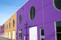 五颜六色的现代店面单位在温哥华英国Colum 免版税图库摄影