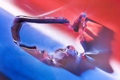 五颜六色的玻璃书镇我们 免版税库存照片