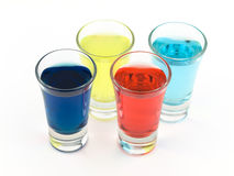 五颜六色的玻璃射击 库存图片