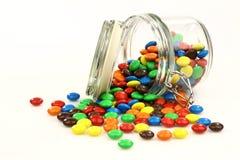 五颜六色的玻璃瓶子甜点 免版税库存图片