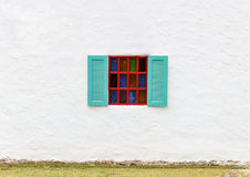 五颜六色的玻璃窗。 图库摄影