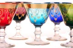 五颜六色的玻璃 库存照片