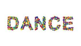 从五颜六色的球形成的舞蹈 库存照片