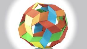 五颜六色的球状origami球 库存例证