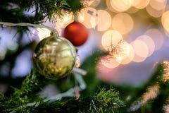 五颜六色的球,圣诞节装饰 库存图片