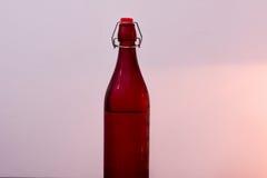 五颜六色的瓶由玻璃制成 图库摄影