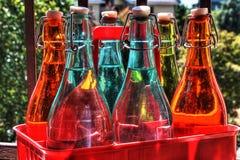 五颜六色的瓶 库存图片