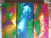 五颜六色的甘油的肥皂 免版税库存照片