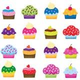 五颜六色的甜杯形蛋糕 免版税库存图片