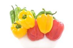 五颜六色的甜椒 图库摄影