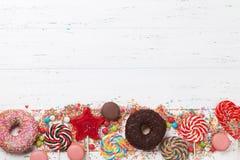 五颜六色的甜点 库存照片