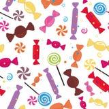 五颜六色的甜糖果无缝的样式 向量例证