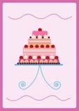 五颜六色的甜蛋糕 免版税库存图片