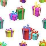 五颜六色的生日快乐无缝的样式 图库摄影