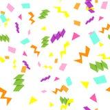五颜六色的生日快乐无缝的样式 库存图片