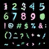 五颜六色的生物字体 向量例证