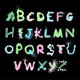 五颜六色的生物字体 皇族释放例证