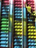 五颜六色的电梯 免版税库存照片