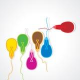 五颜六色的电灯泡概念 库存图片