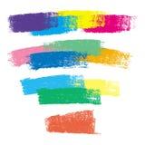 五颜六色的白垩冲程 免版税库存照片