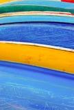 五颜六色的皮船 免版税图库摄影