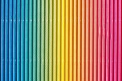 五颜六色的皱纸板或纸背景 库存照片