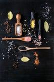 五颜六色的盐品种  免版税库存照片