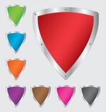 五颜六色的盾集合 免版税库存图片
