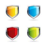 五颜六色的盾 库存图片