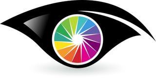 五颜六色的眼睛商标 免版税库存图片