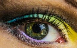 五颜六色的眼睛 图库摄影