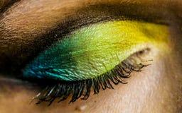 五颜六色的眼睛 免版税库存图片