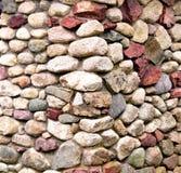 五颜六色的石墙 库存图片