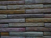 五颜六色的石墙 免版税库存照片