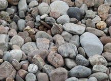 五颜六色的石头和小卵石特写镜头 库存图片