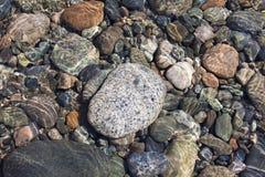 五颜六色的石头 库存照片