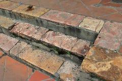 五颜六色的石步在昆卡省,厄瓜多尔 免版税图库摄影