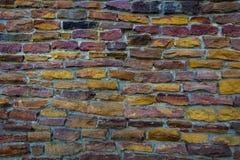 五颜六色的石砖的纹理或样式 免版税库存图片