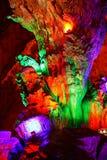 五颜六色的石笋 图库摄影