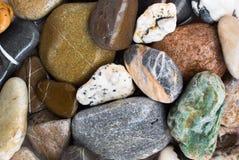 五颜六色的石头背景 免版税库存照片