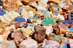 五颜六色的矿物 库存图片