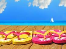 五颜六色的码头触发器 免版税库存图片